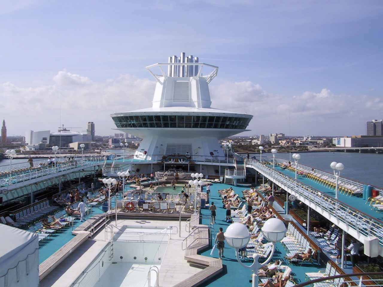 On the Deck of Majesty of the Seas in Miami