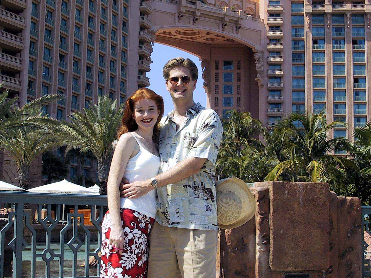 Outside the Atlantis Resort